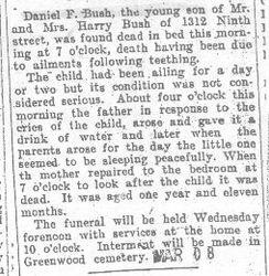 Bush, Daniel 1909