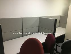 Junk office cubicle removal in Mclean VA
