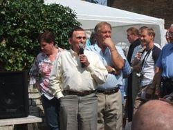 Mick McManus ,Frank Rimer and Jo Huckles