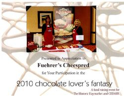 Fuehrer's Cheespred At 2010 Chocolate Lover's Fantasy in Lincoln, NE