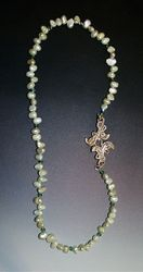 Mint Pearls with Fine Silver Clasp