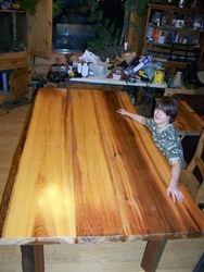Cedar table 10.5'X4.5'