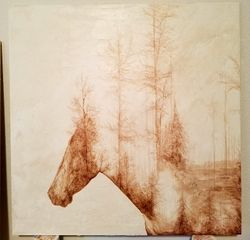 Comissioned Equine Painting, Acrylic