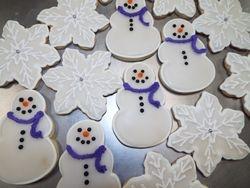 snowmen $2.50 each, flakes $3 each