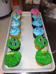 Palm Trees Cupcakes