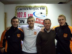Michael with Carrick Rangers