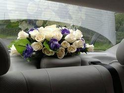 Purple floral display rear