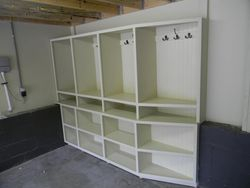 Custom garage cubbies/storage