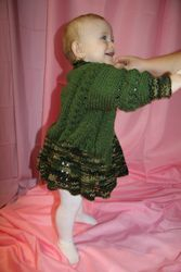 """""""Army Set"""" Baby Dress and Sweater"""