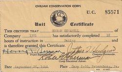 George Kenawell Baking Certificate