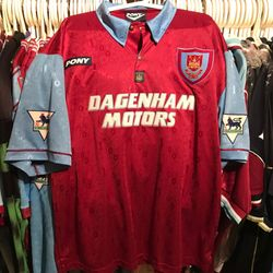 John Moncur 1995-96 centenary shirt.