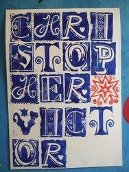 Boy's name print poster