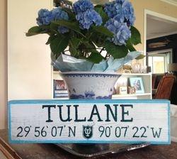 TULANE University sign