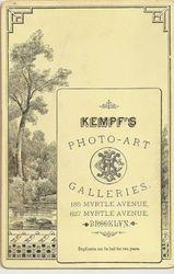 Kempf, photographer of Brooklyn, NY - back