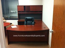Bush executive office desk installation service in Reston VA
