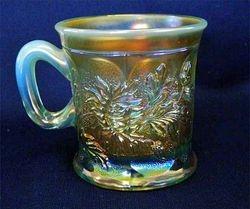 Dandelion mug, aqua opal