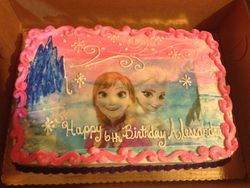 Frozen Sisters Cake