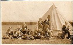 Guides at Camp - 1920s