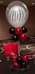 Double stuffed balloon centerpiece