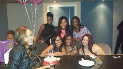Angela Dollar, Demetria McKinney, Michelle, Iesha Marie, Sydney Simone, Chelby, Lauren Heyward and Marika at  Demetria McKinney's Surprise DEMETRIAN Birthday/Meet & Greet