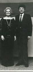 "With Maureen Forrester 1983 after a performance of Mahler's ""Kindertotenlieder"" in Kansas City, USA"