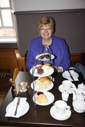 Lynda at High Tea - Edinburgh Castle