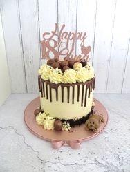 18th Birthday Rose Gold Drip Cake