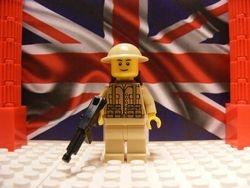 British Desert Commando with M1A1 Tommy Gun
