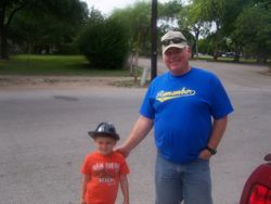 Mike and Sterling in Gruene on Sunday