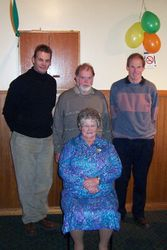 Mum with her Sons at her 70th Birthday Party