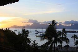 Moorea from Sofitel resort in Tahiti
