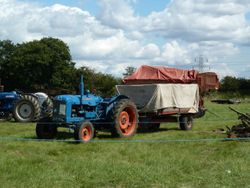 Fordson Super Major and grain trailer