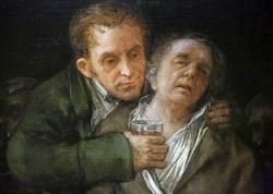 Goya, Self-Portrait with Dr. Arieta, 1820, Minneapolis