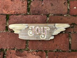 Angel winged JOY sign