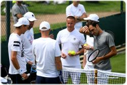 Tomas Berdych and Roger Federer