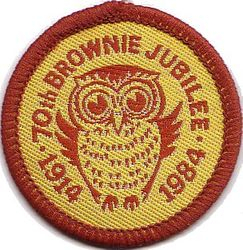 1984 Brownie Anniverary Cloth Badge