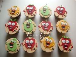 Runaway Fruit Cupcakes