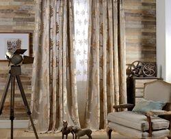 Flora l Burnout Velvet Curtains-Rod Pocket-108L