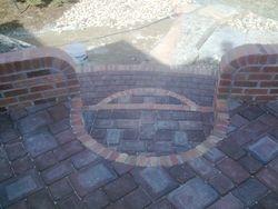 Custom brick on patio - Broomfield