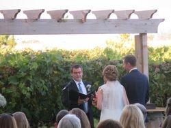 ceremony in the vineyard.