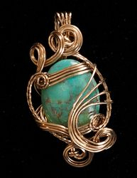 Turquoise in 14k gf