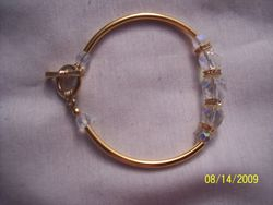 Crystal and gold plated squaredells  Gold tube