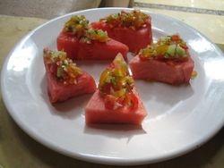 Watermelon with Salsa Mexicana