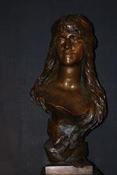 Young Oriental Woman Albert Hambresin 68cm high.