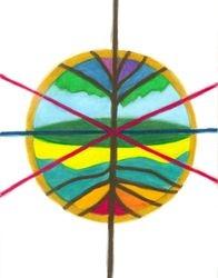Tree Centerpoint Mandala, Oil Pastel, 11x14, Original Sold
