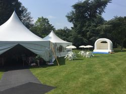 white wedding castle hire in the gardens at The Red Brick Barn Rochford