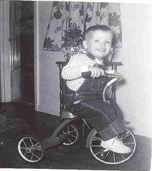 Brad on his first bike