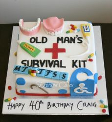 Old Age Survival Kit cake
