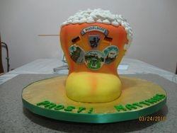 CAKE 16A2- Boot-Shaped Mug of Beer Cake