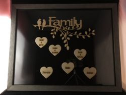 Double Glass Depth Photo Frame
